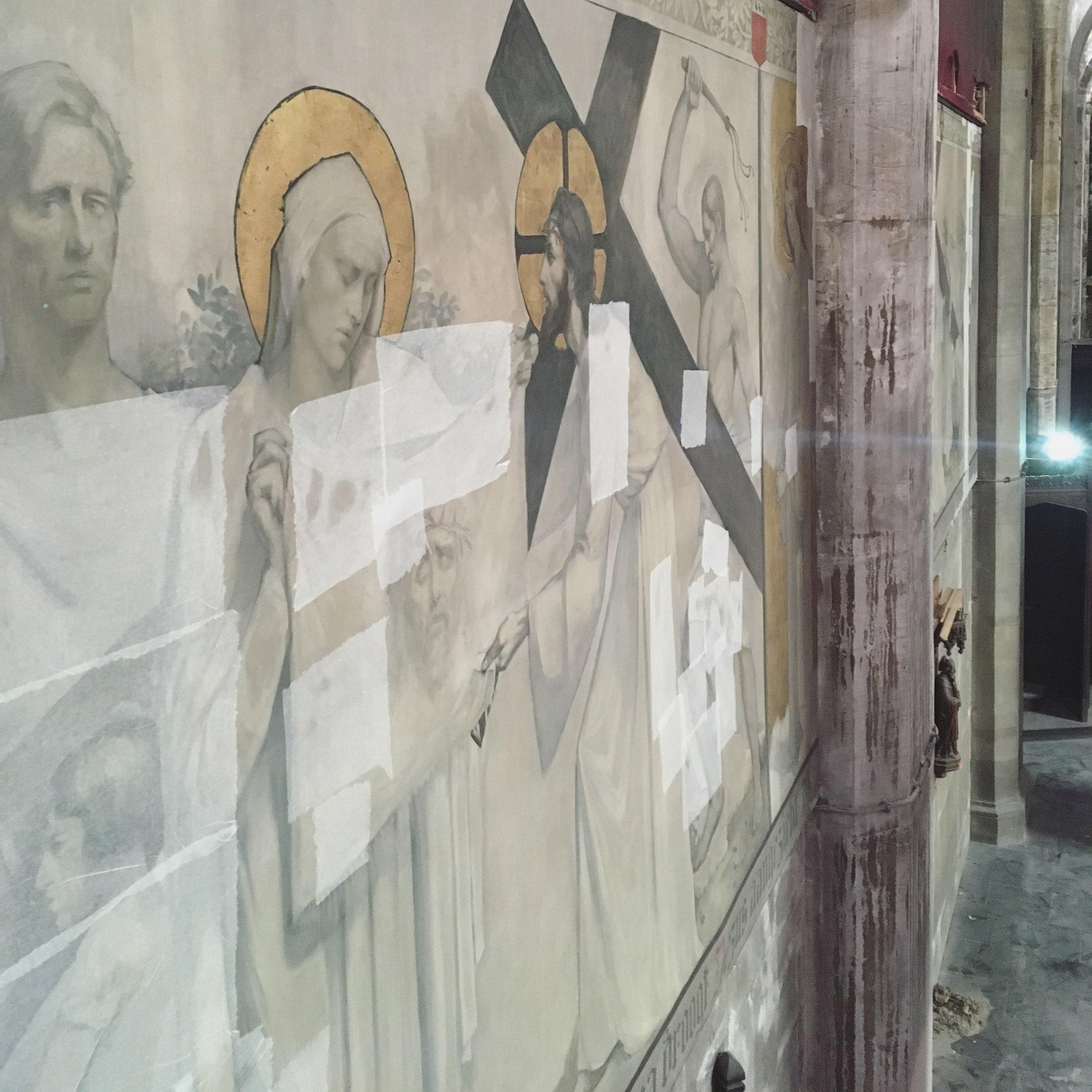 Eglise Saint Henri, Bruxelles, Conservation et restauration des 14 peintures de la descente de croix .JPG