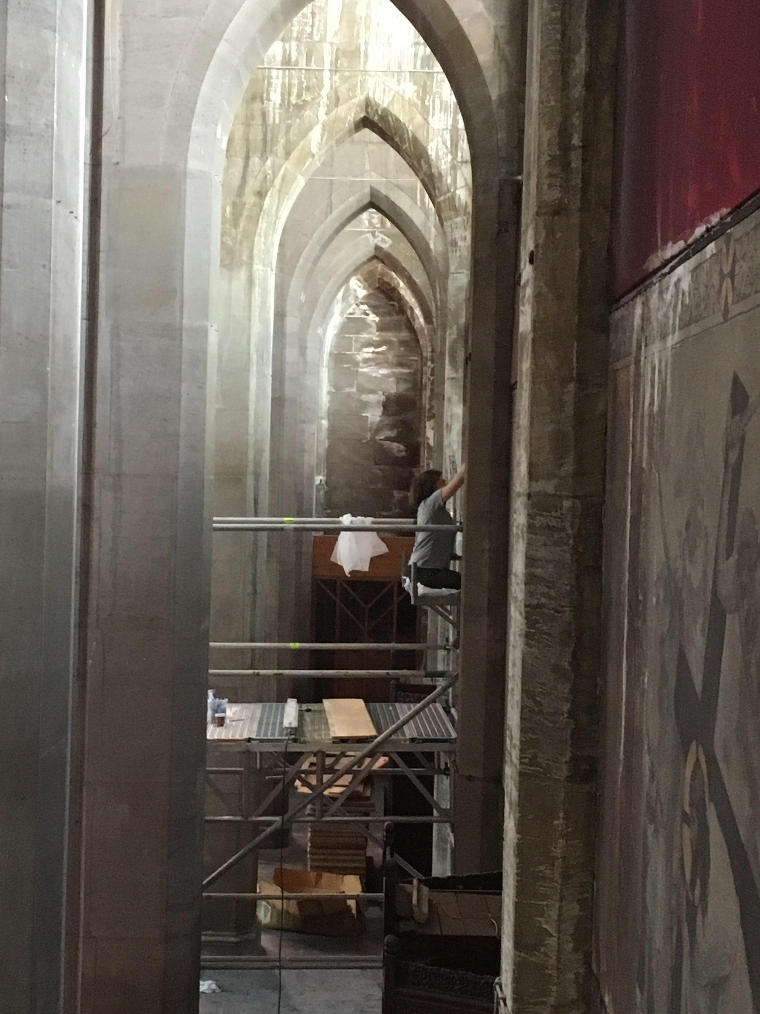 Restauration de peintures murales, Belgique