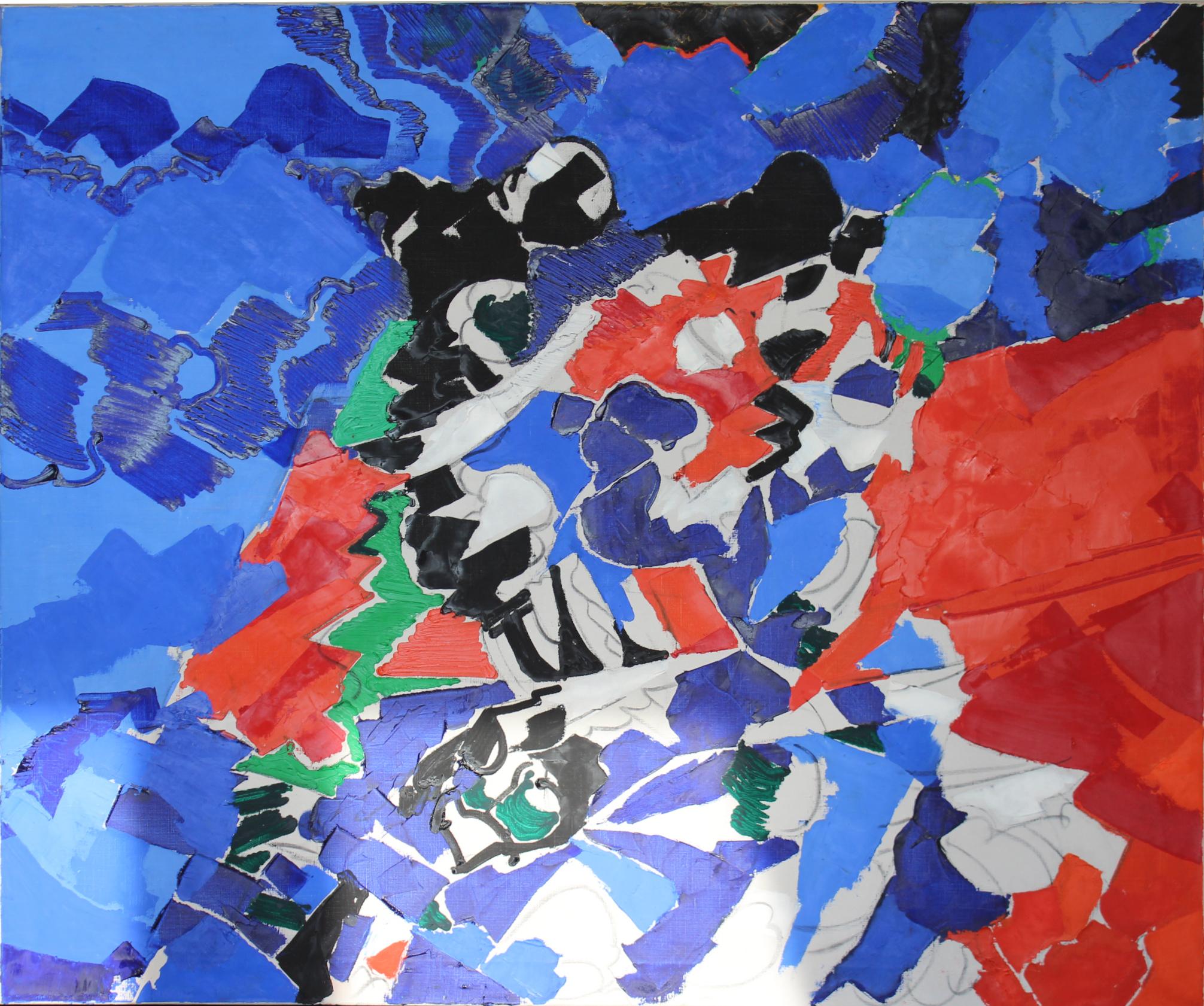 Maurice Wyckaert,  Sans titre,  ca. 1965-70, Peinture à l'huile sur toile
