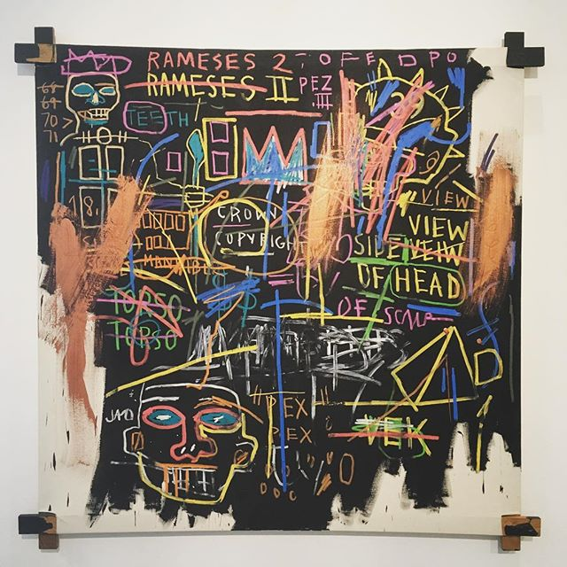 #basquiat  Kings of Egypt II  @schunck_glaspaleis