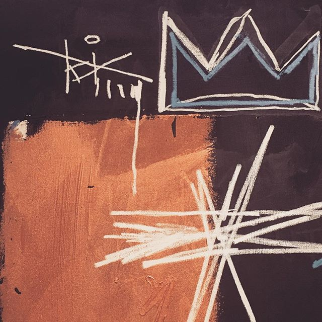 #basquiat  Kings of Egypt III @schunck_glaspaleis