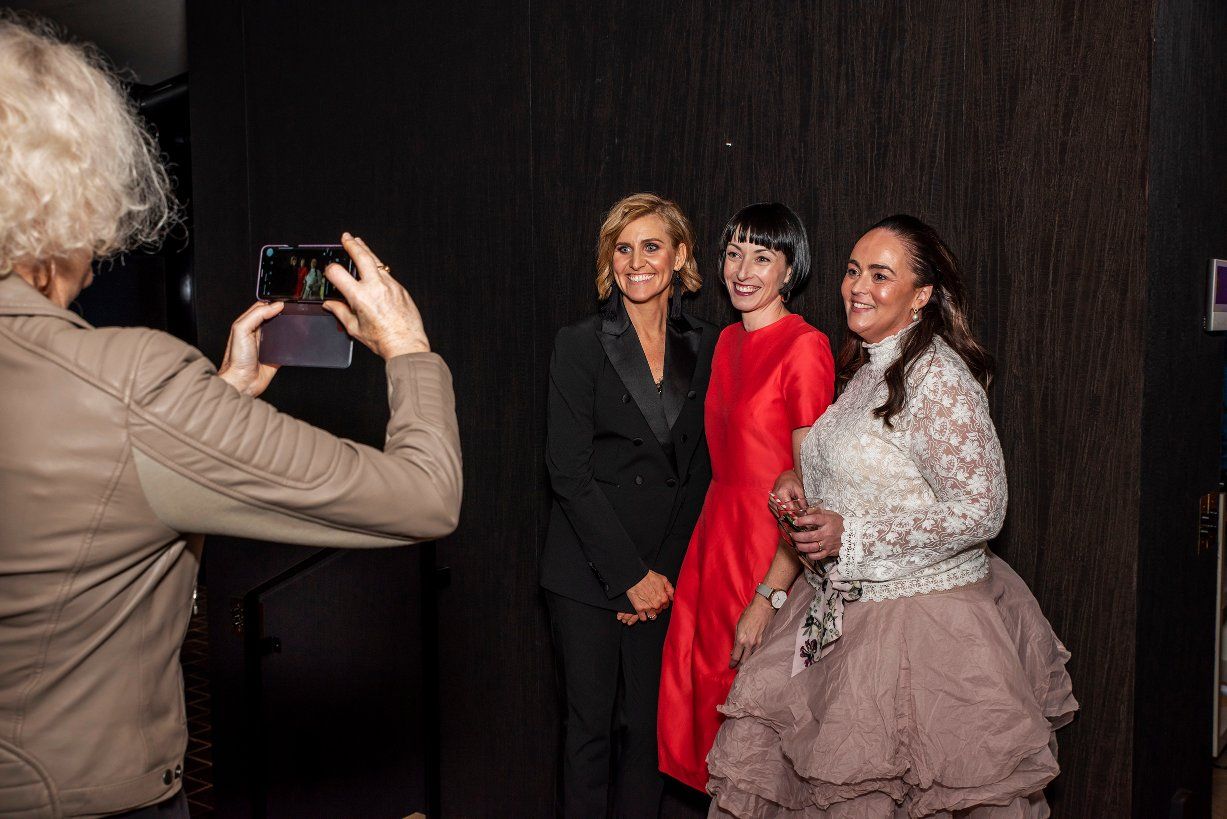 Our divine MC Fiona Keely (centre) from  Style Liberation  with Katie Dawson (Sissa Sorella, left) and Maria Wolters (Honeysuckle & Lace).
