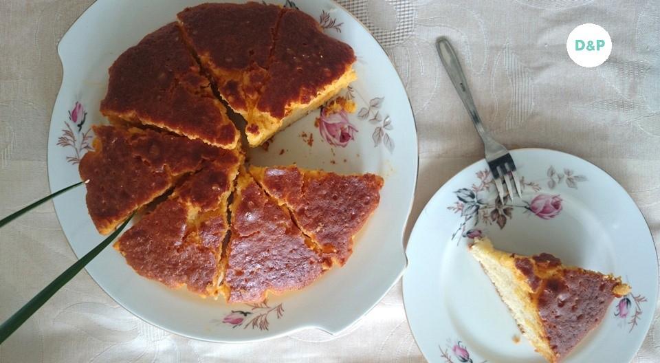 gâteau au yaourt - mandarines et vanille