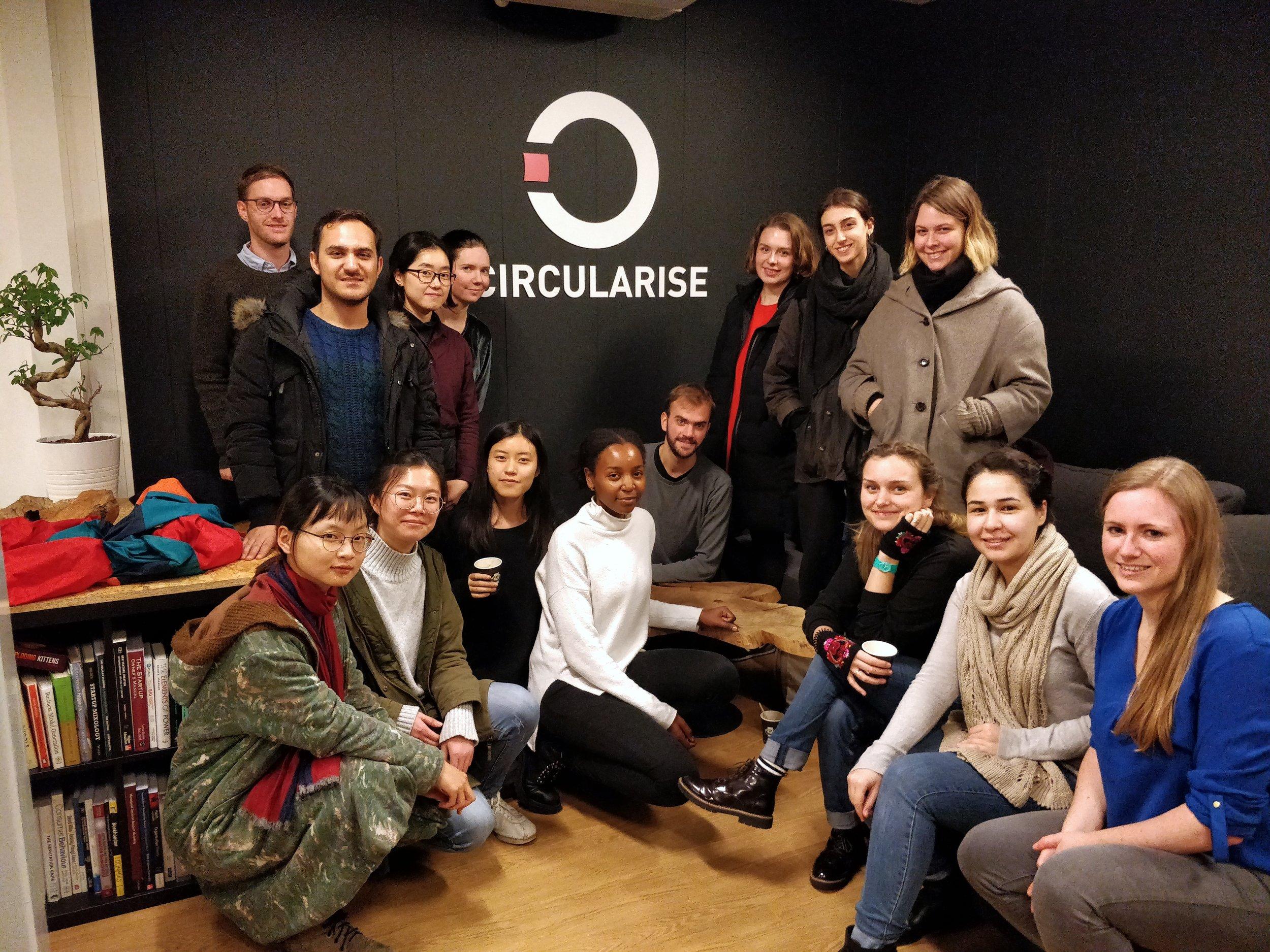 TU Berlin students with Circularise representative, Teresa (to the right)