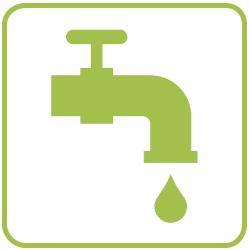 Risparmio dell'acqua grazie all'innovativo design e all'utilizzo dello sfagno