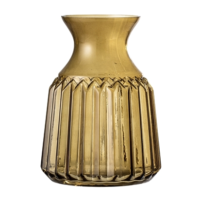Gylden vase i retrodesign - Bloomingville