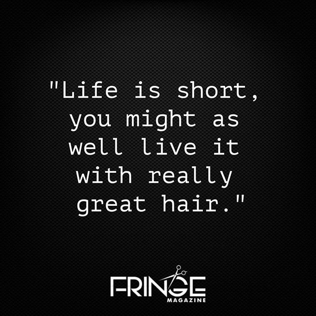 Agreed... 💇  #fringemagazine #IrishHairdresser