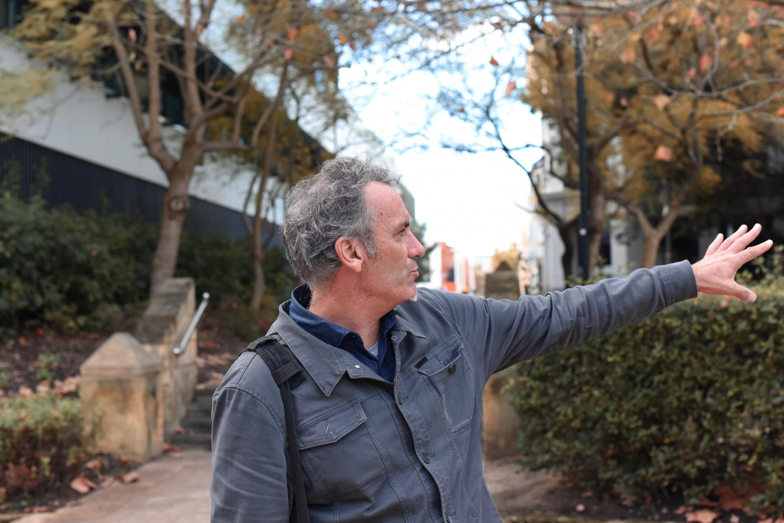 Steve Kinnane in East Perth near the site of the Coolbaroo Club