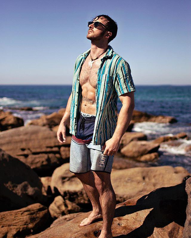 Like Jon here, I can't wait for warmer days.  Model: Jon Lloyd Maroubra Beach, Sydney. April 2019.