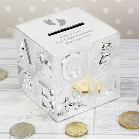 🌙✨The money box can be engraved with 3 lines of text, with up to 25 characters per line.  Dimensions: 7.6cm x 7.7cm x 7.7cm ✨