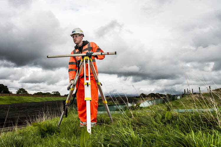 Liam Redwood working towards his Level 3 Diploma in Civil Engineering. -