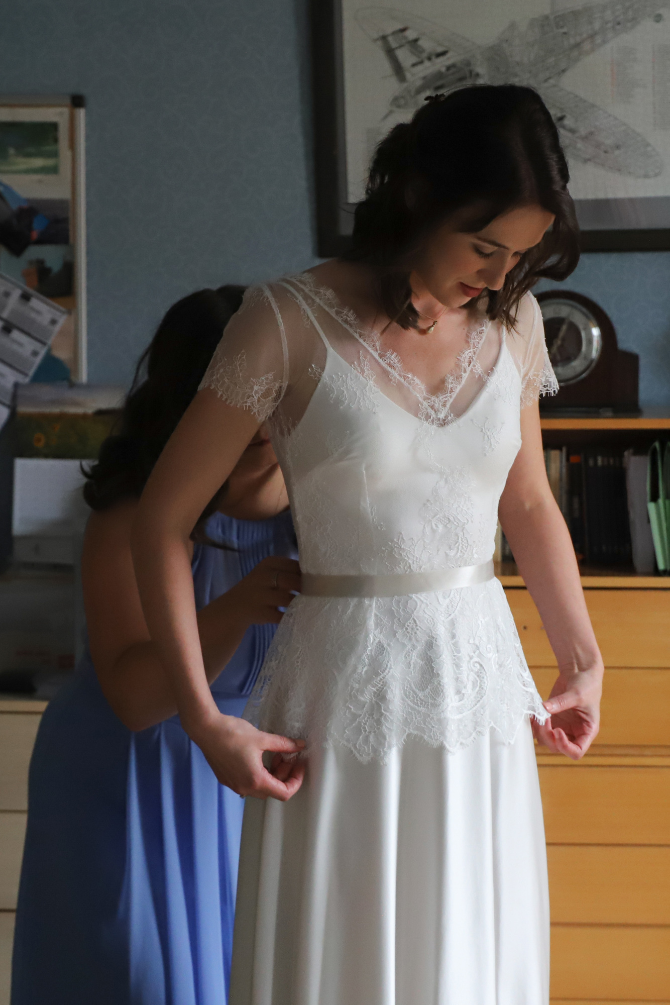 Paula-Lilac-Lace-Top-Bluebell-Flared-Silk-Dress-Church-Barn-Wedding-Kate-Beaumont-Sheffield-1.jpg