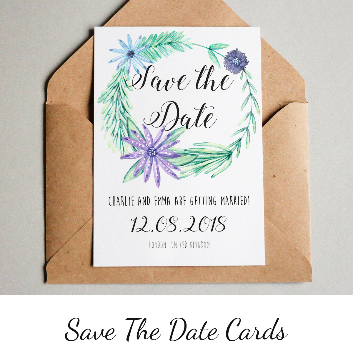 Get things started with our unique save the date cards >       Prices from 48p each