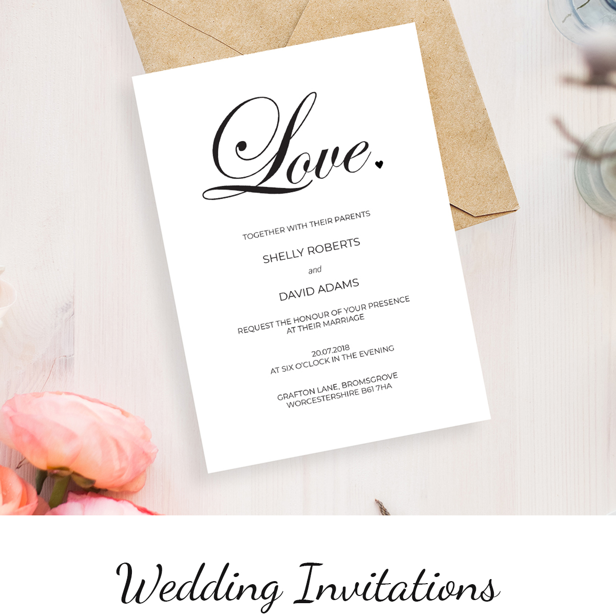 From vintage classics to modern wedding invitations styles >       Prices from 60p each