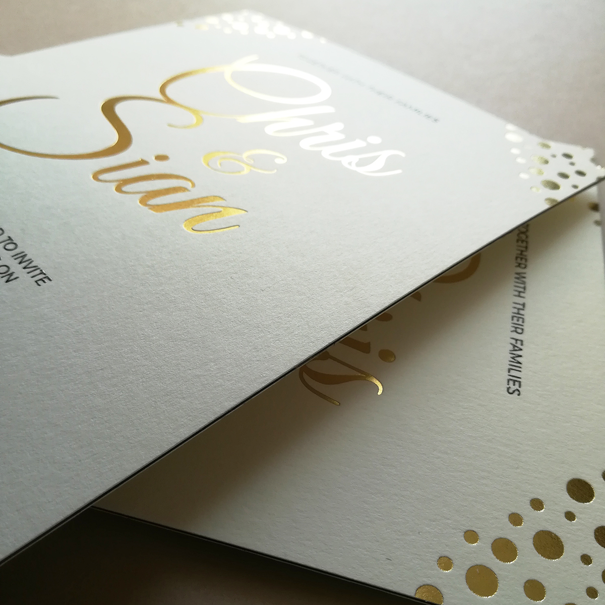 #Chris - Printed with Bespoke Blocking Gold Foil
