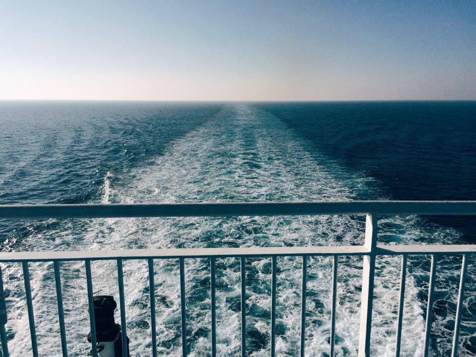 On the way to Lesvos, Greece