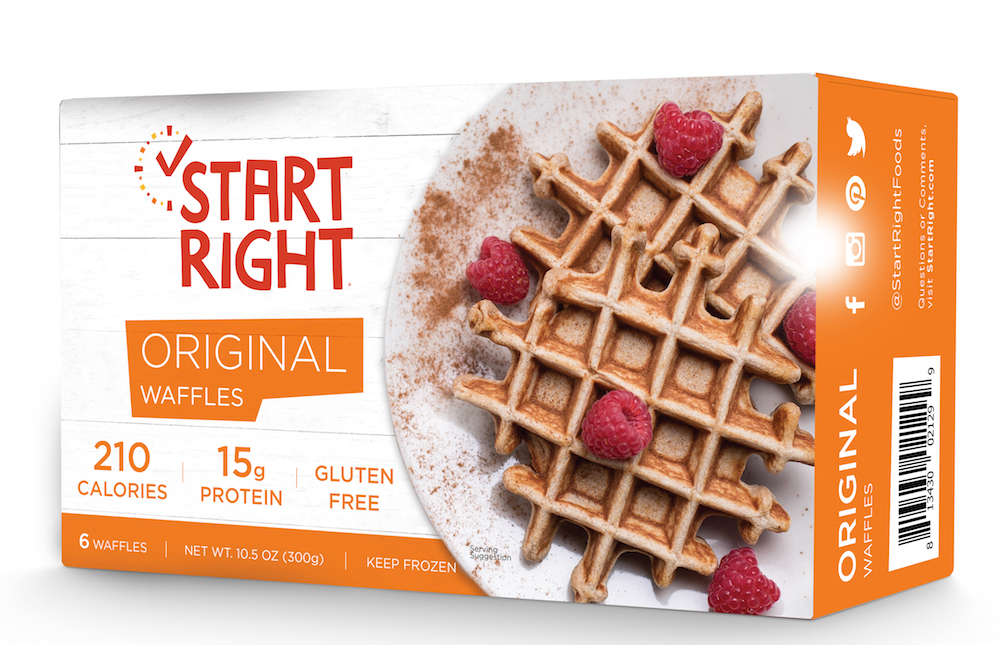 Start Right, Belgian Waffles, frozen waffles, toaster waffles, high protein waffles, protein waffles, cinnamon waffles, raspberry waffles, gluten free waffles, gluten free waffle recipe, high protein breakfast, high protein breakfast options, easy breakfast