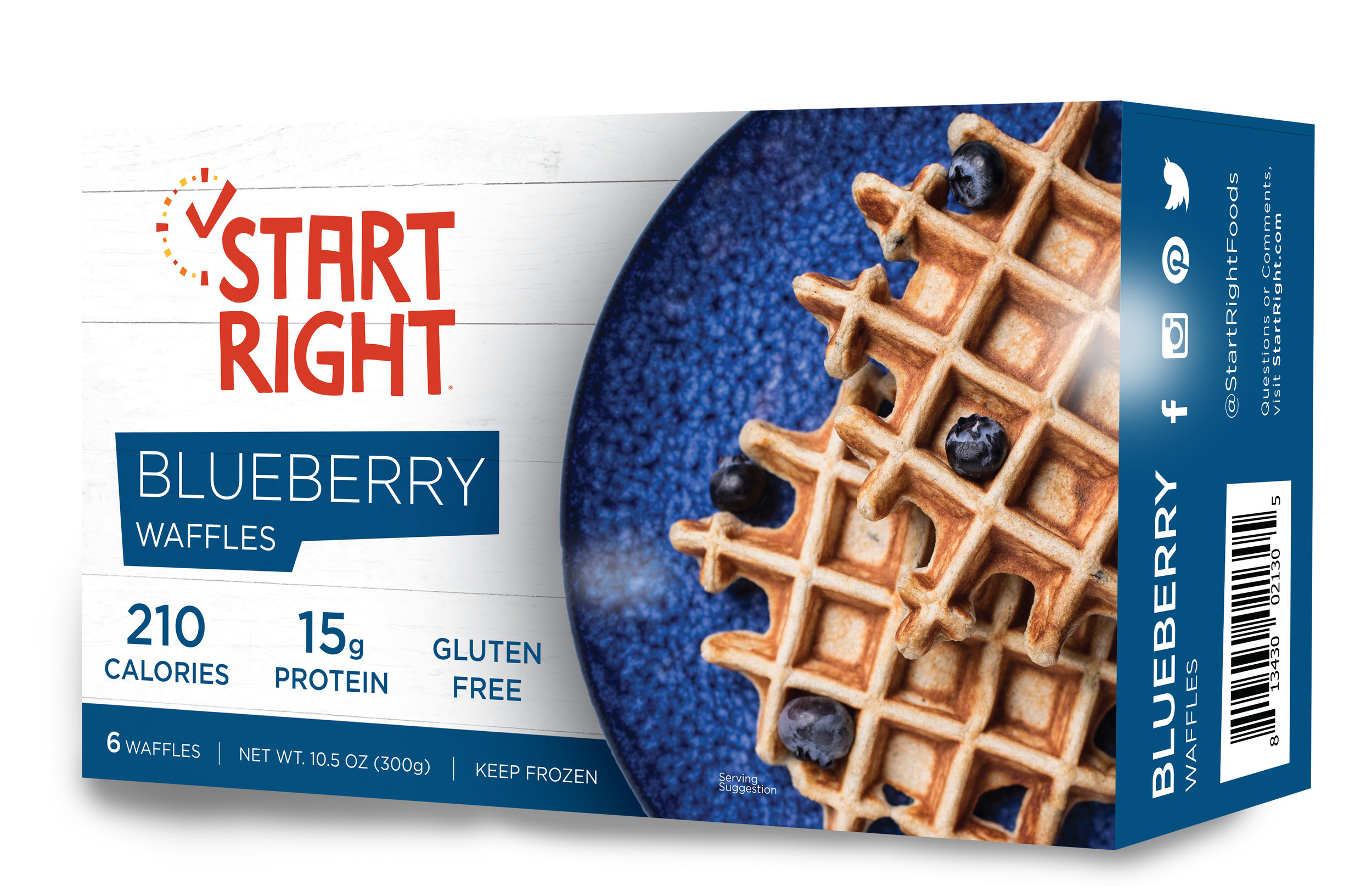 Start Right, Belgian Waffles, frozen waffles, toaster waffles, high protein waffles, protein waffles, cinnamon waffles, blueberry waffles, gluten free waffles, gluten free waffle recipe, high protein breakfast, high protein breakfast options, easy breakfast