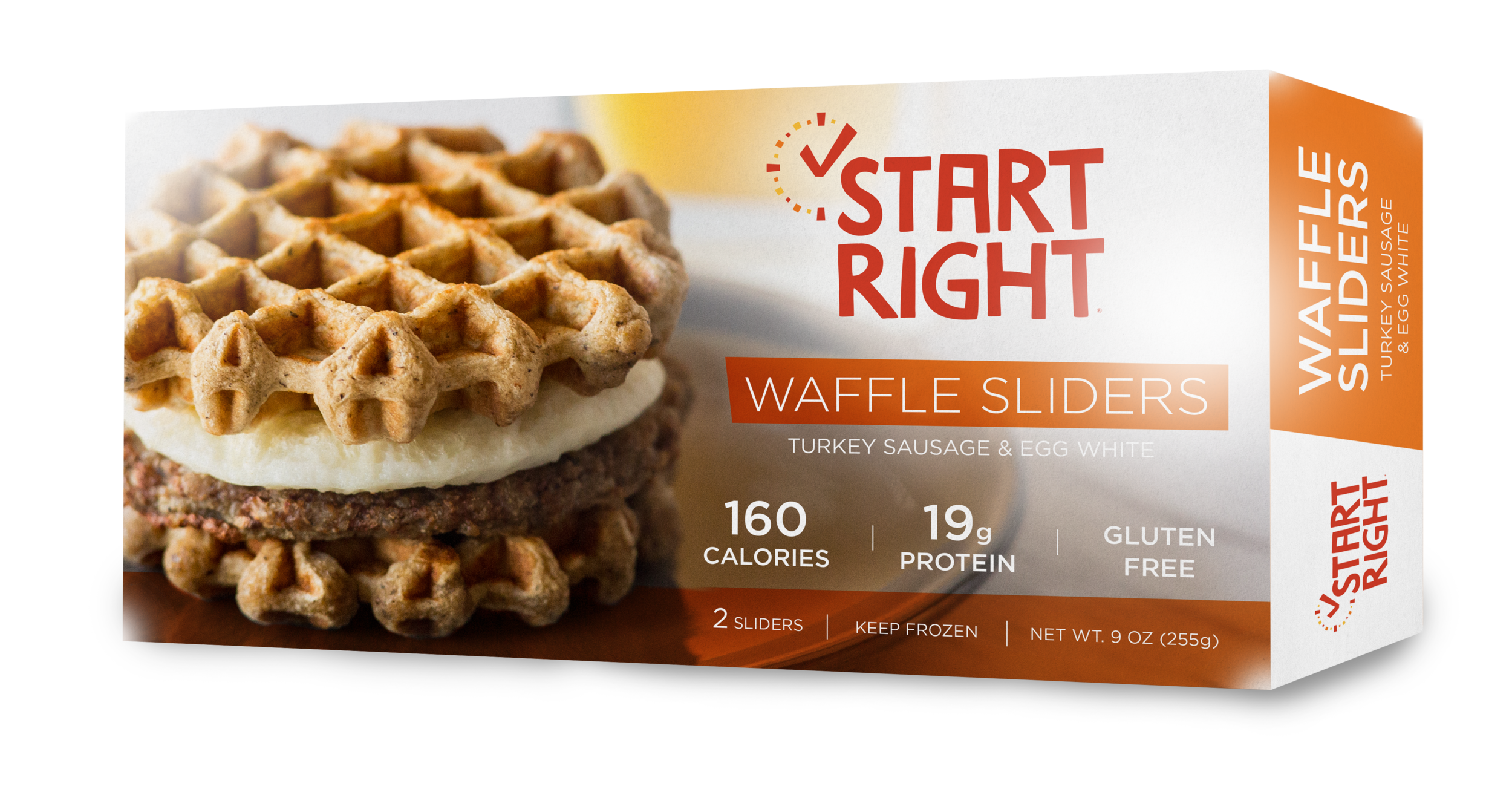 Turkey sausage, turkey sausage breakfast sandwich, waffle slider, high protein waffle slider, high protein breakfast sandwich, sausage and egg white breakfast sandwich