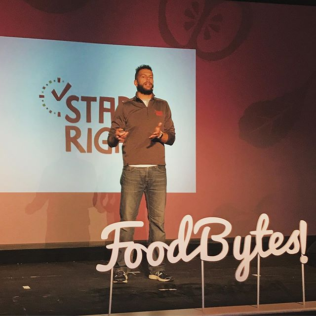 Start Right's @wafflepreneur is sharing our story at @foodbytesbyrabobank to a packed house in Chicago tomorrow at 3pm! Follow our story for live event updates all day tomorrow and be sure to tune in at 4:15pm CST to hear his pitch! . . . . . #foodbytes #foodbyteschicago #proteinwaffles #wafflesliders #breakfast #pitchcompetition #entrepreneur #hustle #startupgrind #startuplife