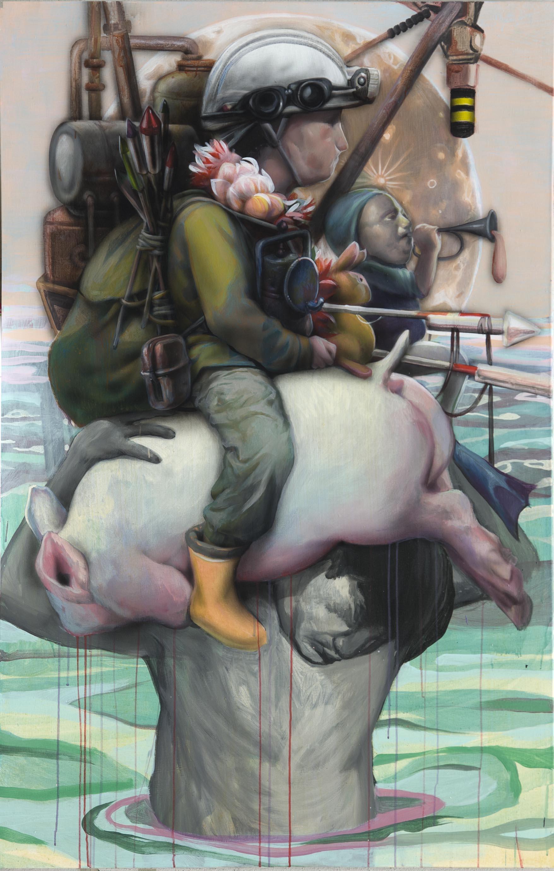 Refugee, acrylique sur toile, 2017
