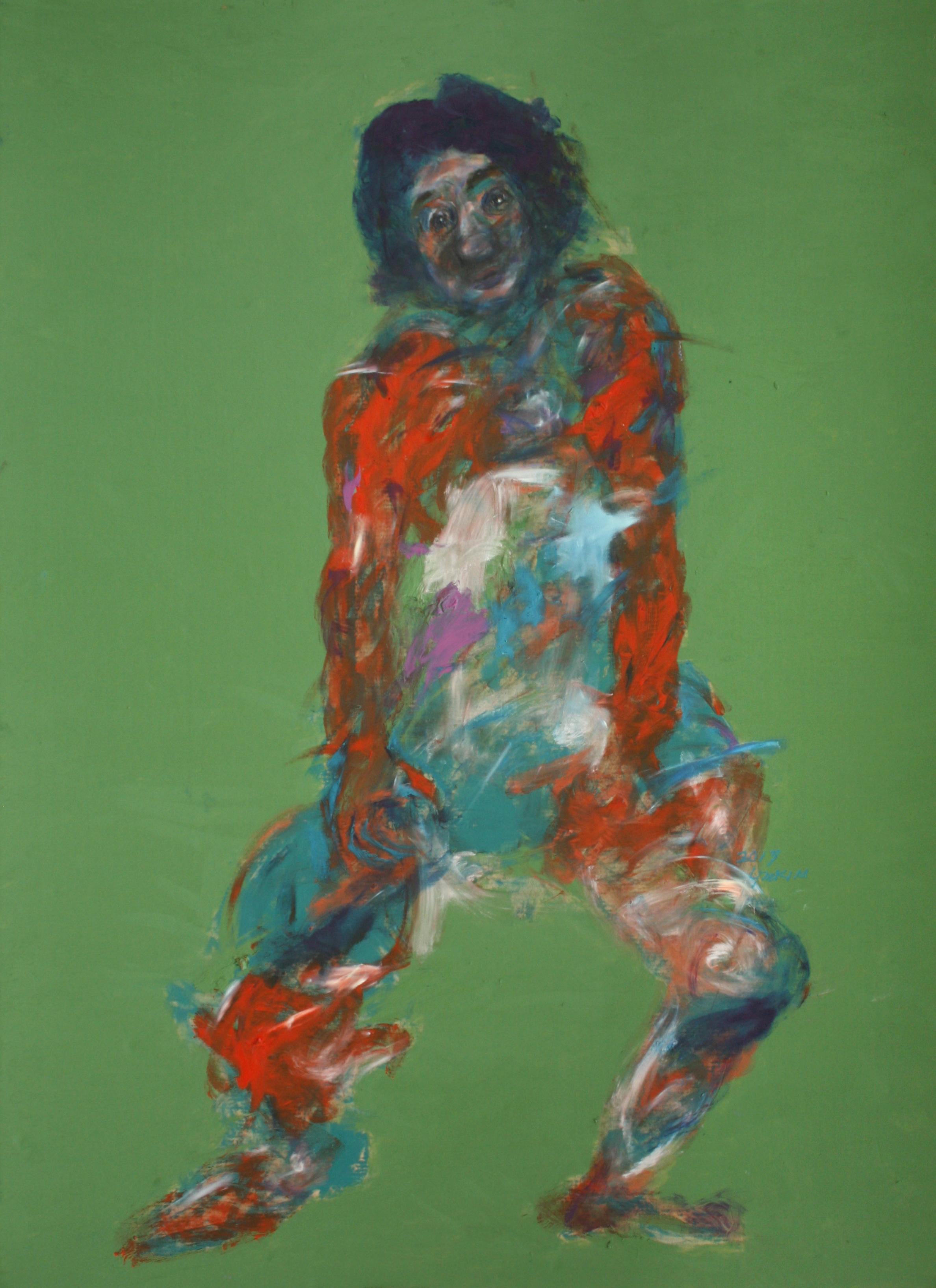 Like a Artist,2017,Oil on Paper,66x100cm