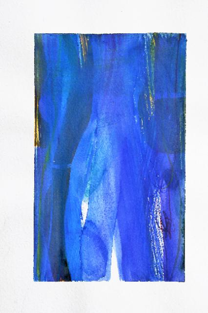 Nature, série de Bleue 21x 30cm, technique mixte, 2017