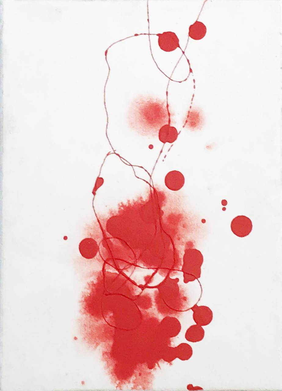 Super Love VII Techniques mixtes et poudre de marbre et pigements sur toile 22,5 x16cm, 2018