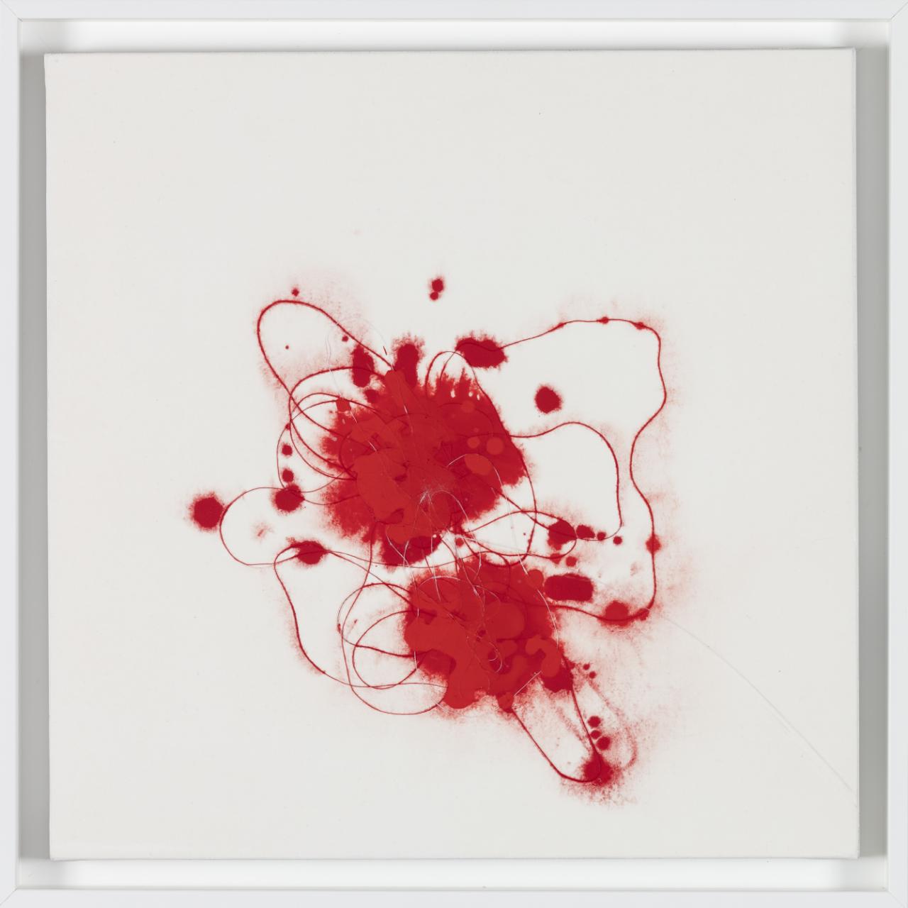 Super Love II Techniques mixtes et poudre de marbre et pigements sur toile 40 x 40cm, 2017