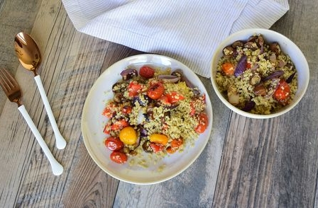Roasted Veggie Quinoa - From Judith Scharman at Foods with Judes