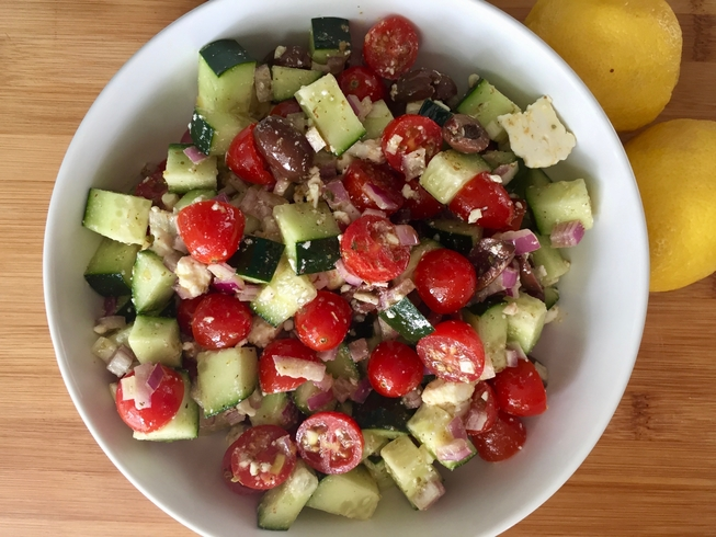 Healthy greek salad - From Laura McCann at My Family Fork