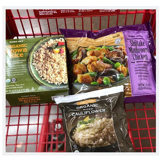 Busy weekends call for easy meals!! Try this trio for a plant powered quick no-recipe meal: shiitake mushroom chicken + brown rice mixed with riced cauliflower (for an extra veggie boost). Ingredients from @traderjoes⁣ .⁣ .⁣ .⁣ .⁣ #plantpowered #healthyeats #nourish #dietitian #eatwell #poweredbyplants #nourishyourbody #trysomethingnew #eatmoreveggies #yougotthis #dinner #nutrition #eatmoreplants #eatgoodfeelgood #plantpower #flavor #easyrecipes #foodhacks #traderjoes #fruitsandveggies #cauliflower #brownrice #frozenfoods