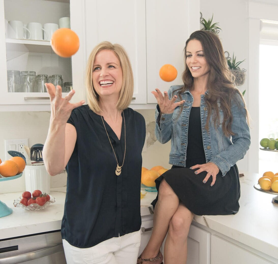 """hey there!We're lauren + Nicole - We're professional healthy meal hackers, stealth meal planning mamas and have a shared obsession for keeping things """"breezy"""" in the kitchen.As registered dietitians, we've helped hundreds of restaurants makeover their recipes, spent countless hours in our home test kitchens and love sharing all our tips and tricks for making healthier meals using what ya got."""