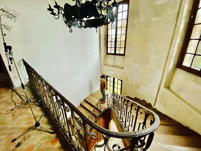 "Bee Gees wrote ""Stayin' Alive"" over the course of a few days while sprawled on the staircase at the Château d'Hérouville studio near Paris."