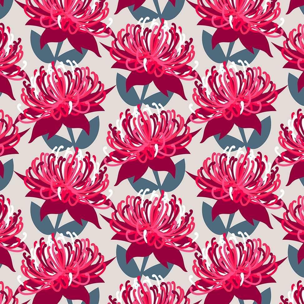 Waratah Flower - grey