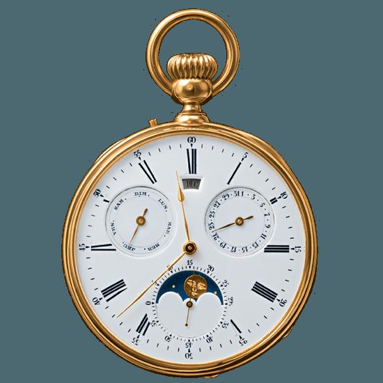 Breguet 1369 Gregorian Calendar Pocket Watch   Source:    Breguet