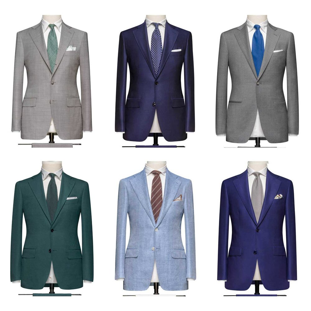 The different Lords of Wool suit options available.