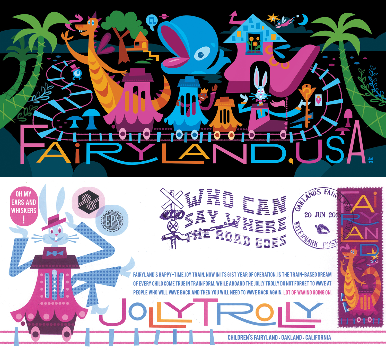 Fairyland Postcard & Stamp Design