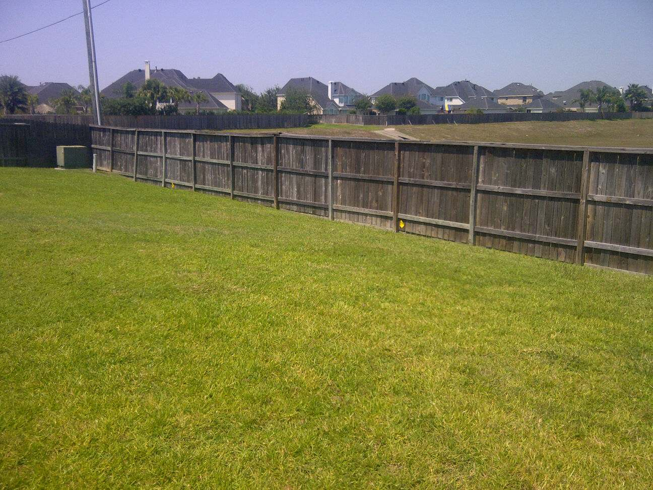 new fence: before