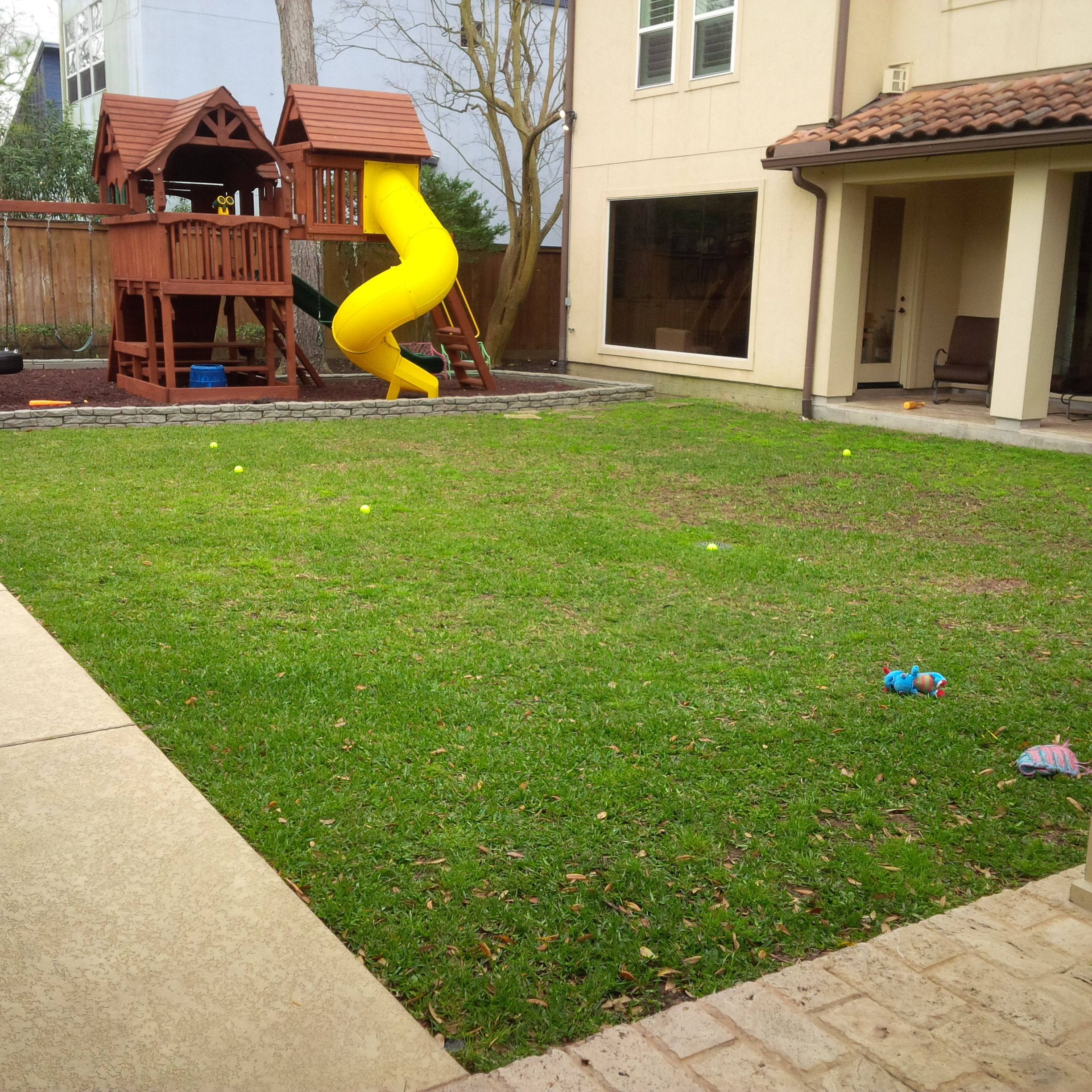Artificial turf project: before