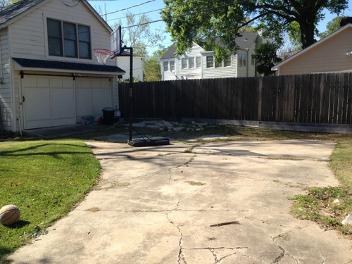 driveway restoration: before