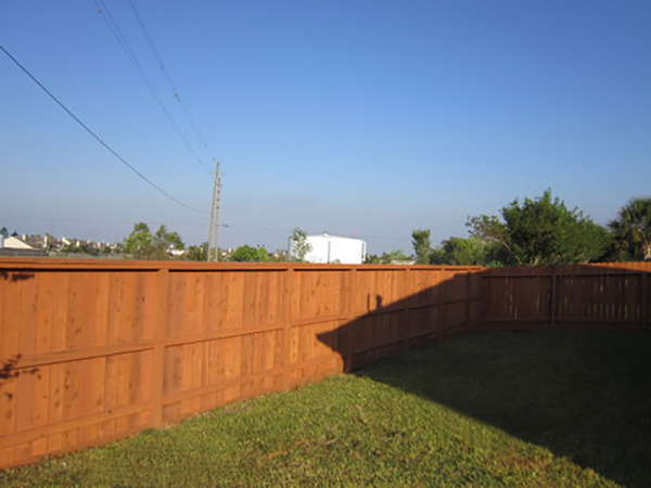 Fence Staining: after