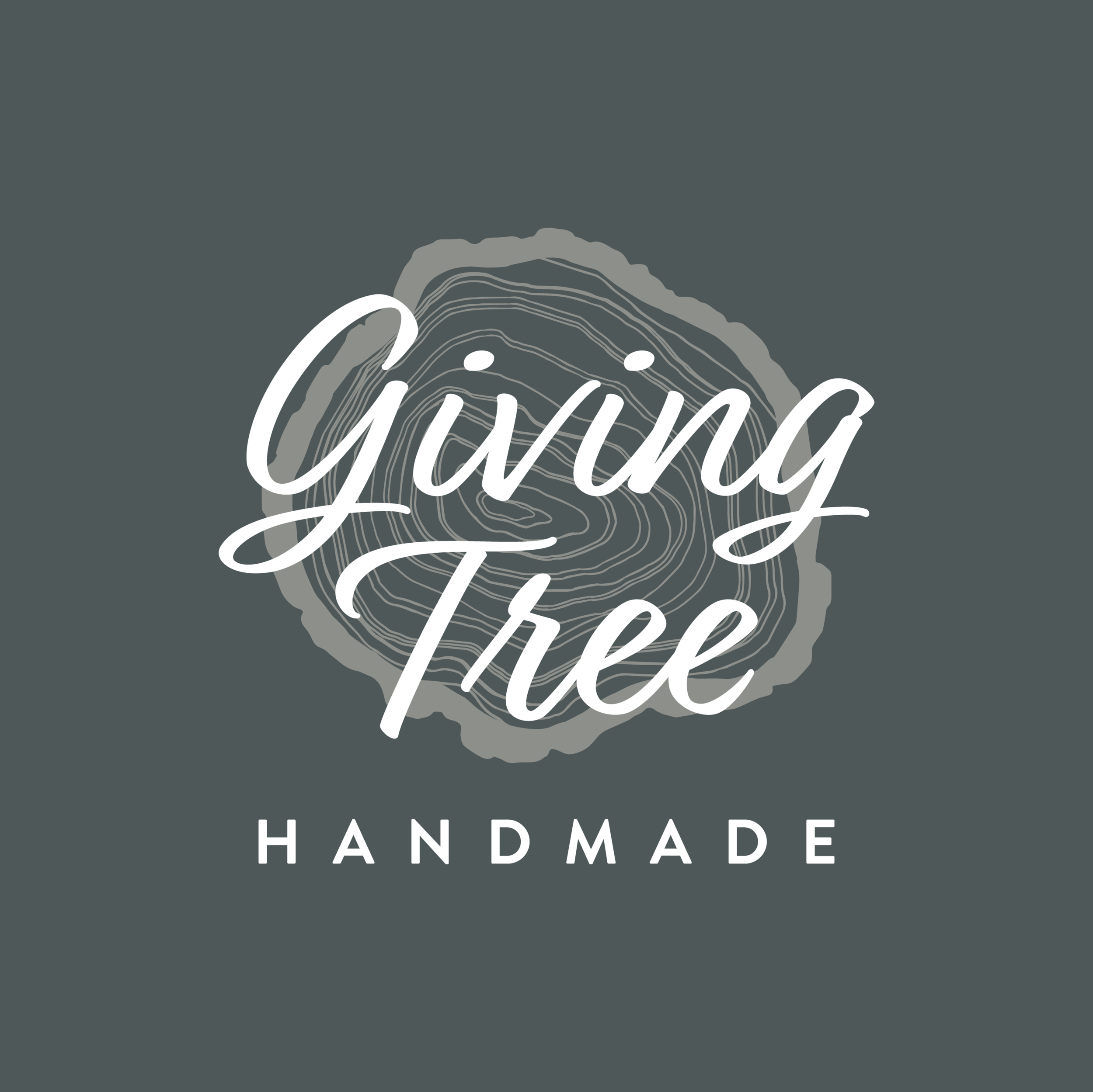 Giving Tree -_Wood Slice Logo Green Background Stacked.png