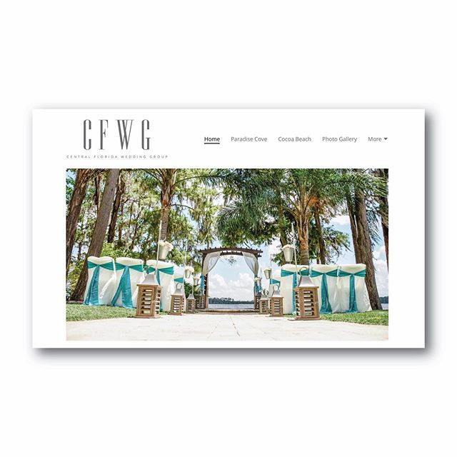 Love how @cfweddinggroup's new logo looks on top of their web page! ⠀ -⠀ #logodesign #branding #graphicdesign #smallbusiness #localbusiness #handmade #lkld #lakelandfl #graphicdesigner #logo #pattern #pantone #CarrollDesignCo #adobe #adobeillustrator #wedding #minimal #minimalist #minimaldesign #cleandesign #simpledesign #centralflorida