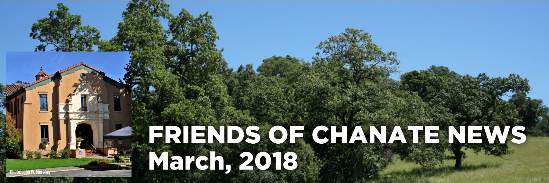 Thanks to you and our many other generous supporters, on March 14, 2018 Friends of Chanate met a key legal benchmark; we completed our deposit of $35,000 with Sonoma County to pay for the Administrative Record.   Equally important have been the many volunteer hours devoted to research, documentation and spreading the word. Thank you, all!    We will continue to press forward because it is unacceptable that the County has given a gift of public funds to their favored developer. County taxpayers deserve a full public process before this valuable 82-acre property is given away for only $6-12 million dollars.   Next the County will prepare the Administrative Record (which consists of all the documents that will be used to prove our case) and submit it to the court. However, first the County must address our significant comments about their attempt to include irrelevant and duplicative documents in the Administrative Record. By our count, over 1/3 of their proposed record consists of documents that are irrelevant and/or duplicative. They've also left out a number of important documents, and we will be demanding that those documents be included in the Record.  If necessary, our attorney will return to court to demand that the Administrative Record appropriately contain only the documents necessary for this lawsuit, and if possible, further reduce the cost. There continues to be no charge to Friends of Chanate for this representation, as our attorney is donating her fees on the matter of the Administrative Record.  After the Administrative Record situation has been resolved, we will file our first legal brief with the Court. This need not be an endless process. The trial is now scheduled for July, and we look forward to a clear resolution on the merits of our case.  Although we have been able to thwart the County's attempt to make us abandon our lawsuit, thanks to the contributions from our generous supporters, the battle is far from over. We expect the County to continue 