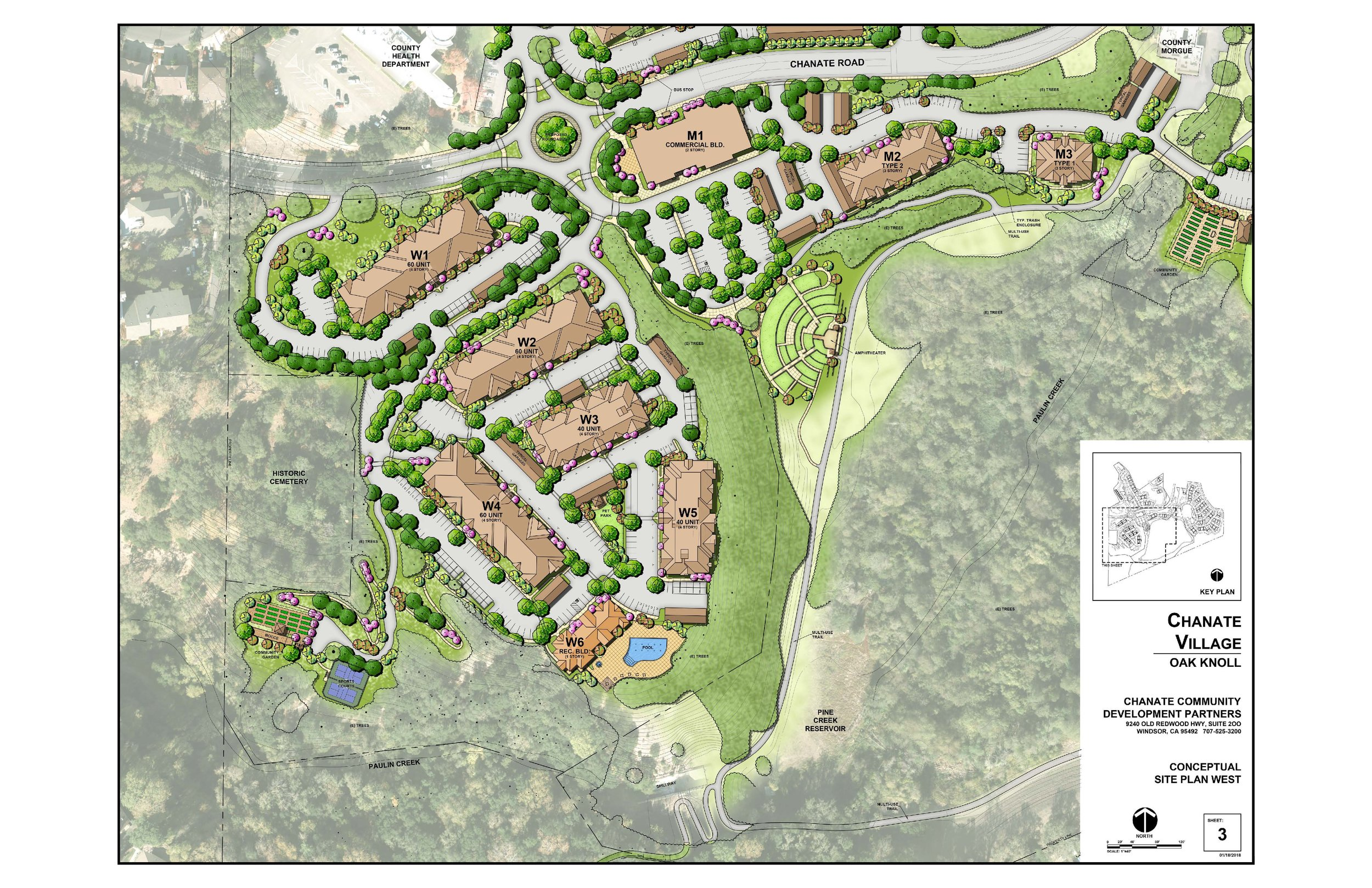This plan represents the four story 260 Senior Living Complexes that are proposed.