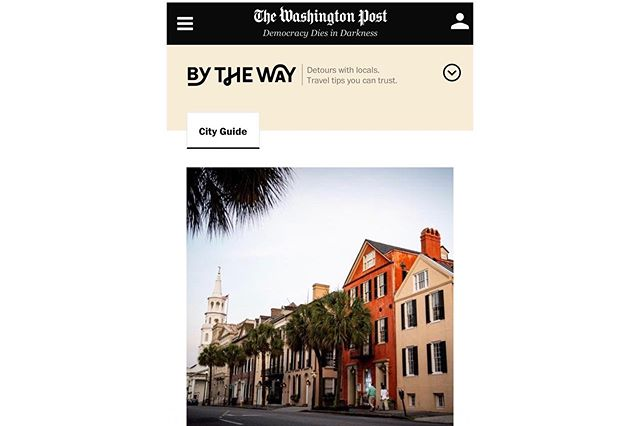 The @washingtonpost's new travel destination is live! Follow @bytheway and check out my local's guide to Charleston. Thank you to so many awesome spots for opening your doors to me. And, it's always such an honor to shoot for a paper I respect so much; thank you @washingtonpost. (Link in Bio)  #BTW #travel #tourism #charlestonsc #historicdistrict