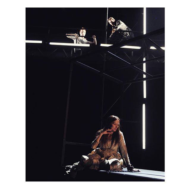 a snap from work on Webster's 1614 tragedy; Duchess of Malfi... 2 corrupt brothers take revenge on their sister for marrying below her class...🔪 . . stage design work - link in bio.