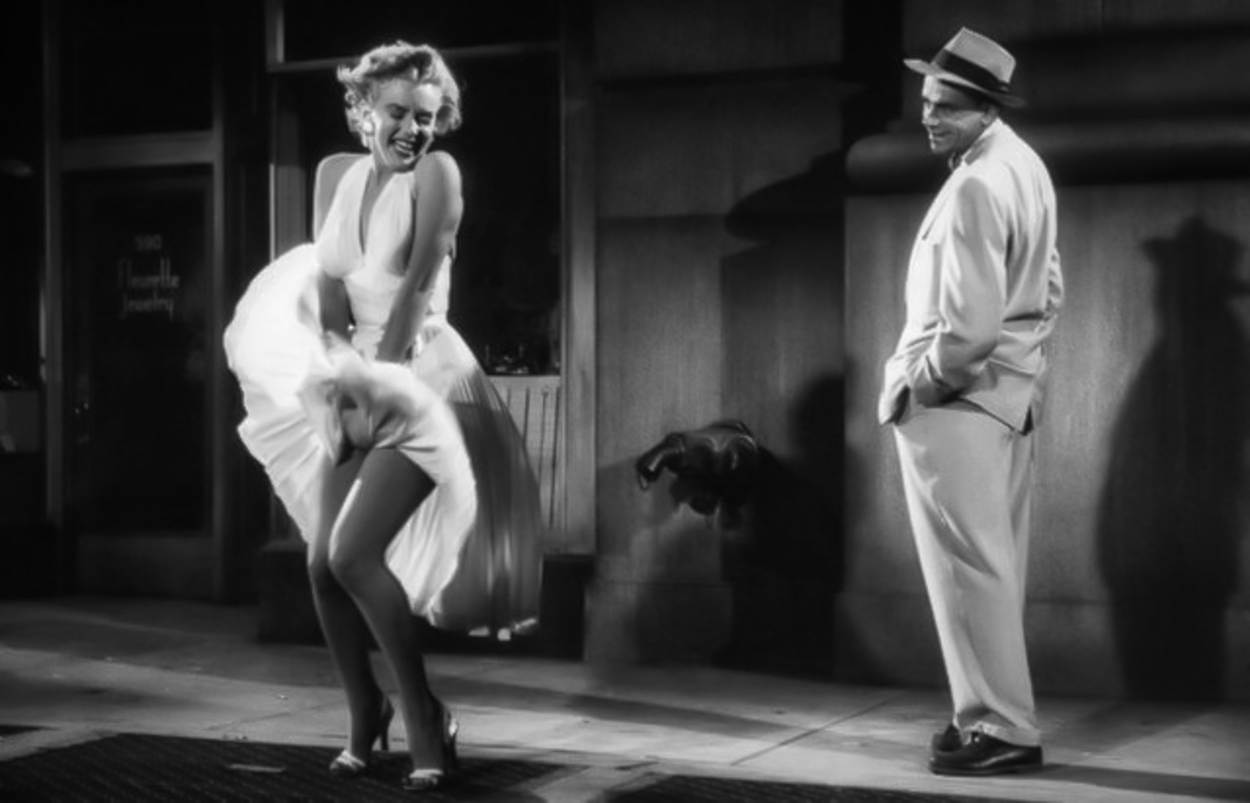 Marilyn Monroe & Thomas Ewell on The Seven Year Itch (Photo via  Art-Stew )