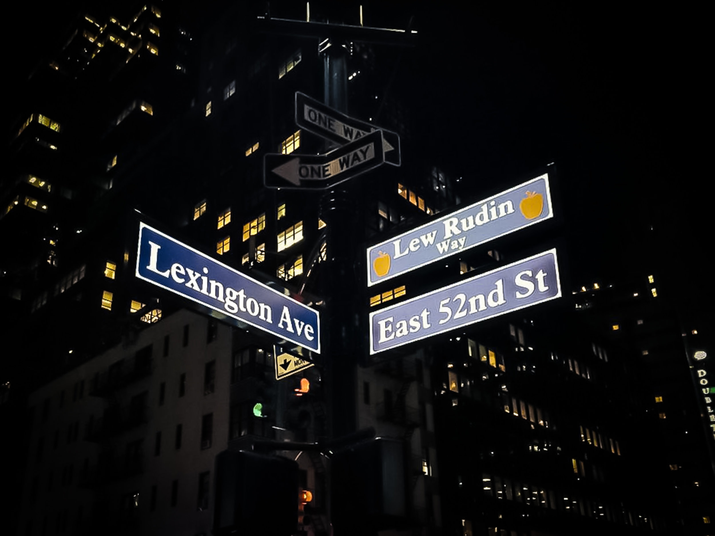 The famous spot: Lexington Avenue between 51st and 52nd Streets, in New York City
